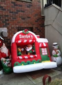 Santa's inflatable workshop
