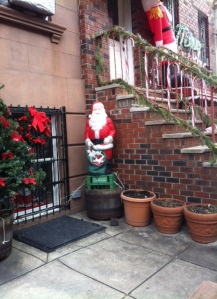 Santa on a milk crate