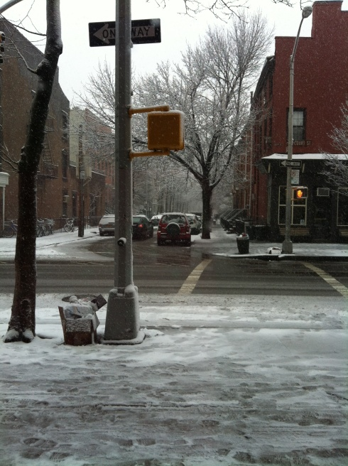 Snow in Brooklyn today